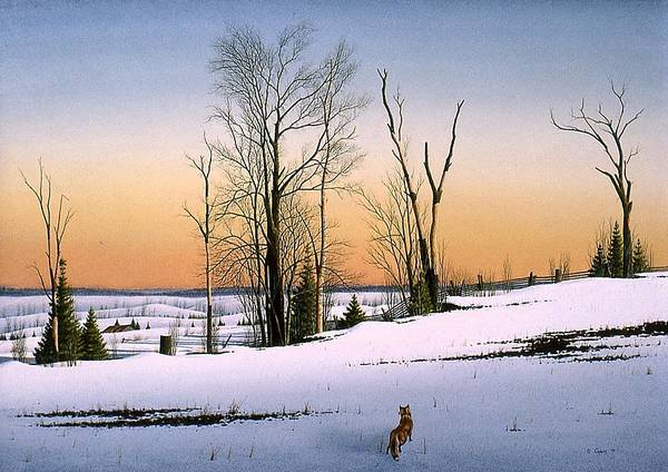 Nature Poster featuring the painting The Fox by Conrad Mieschke