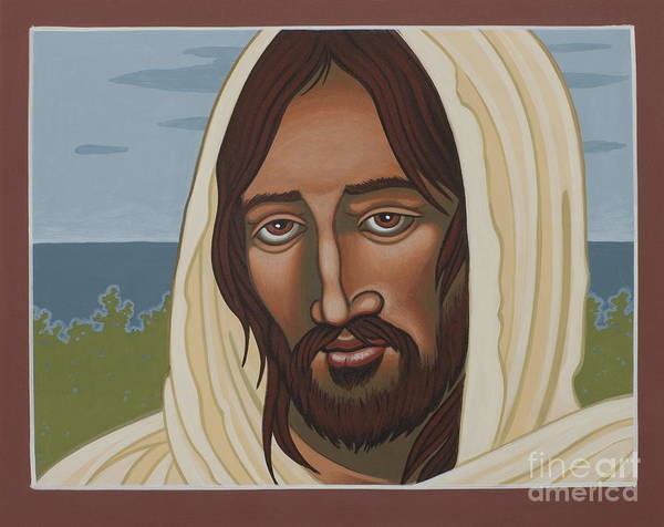 Jesus Poster featuring the painting The Galilean Jesus 266 by William Hart McNichols