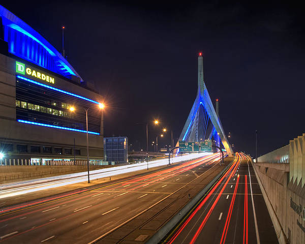 Boston Poster featuring the photograph The Garden And The Zakim by Joann Vitali
