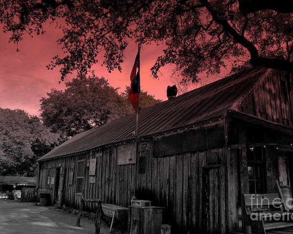 Luckenbach Poster featuring the photograph The General Store In Luckenbach Texas by Susanne Van Hulst