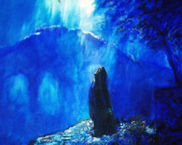 The Gethsemane Prayer Poster featuring the painting The Gethsemane Prayer by Seth Weaver