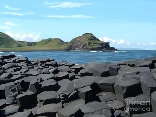 The Giant's Causeway Poster featuring the painting The Giants Causeway by Francis Leavey