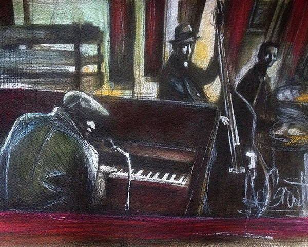 Musicians Poster featuring the painting The Gig by Gregory DeGroat