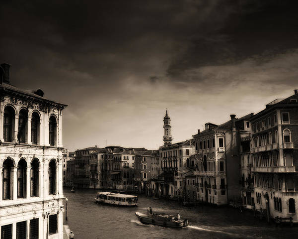 Venice Poster featuring the photograph The Grand Canal by Aaron Bedell