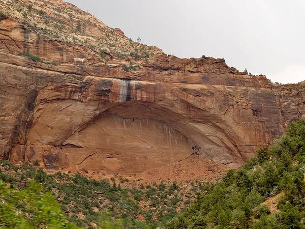 The Poster featuring the photograph The Great Arch At Zion Natioal Park by Elizabeth Sullivan