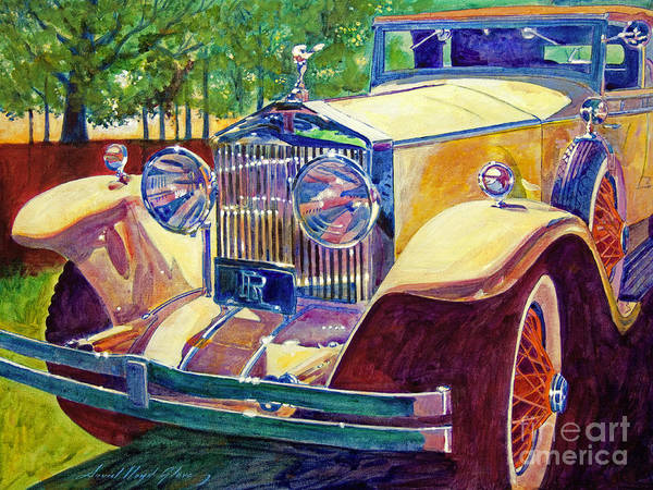 Autos Poster featuring the painting The Great Gatsby by David Lloyd Glover