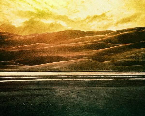 Brett Poster featuring the digital art The Great Sand Dunes by Brett Pfister