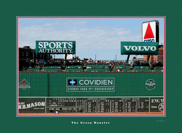 Tom Prendergast Travel Destination America Poster featuring the photograph The Green Monster Fenway Park by Tom Prendergast