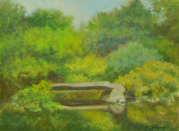 Landscape Poster featuring the painting The Greens Of Summer by Phyllis Tarlow