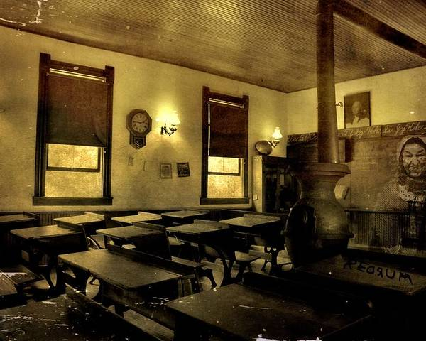 The Haunted Classroom Poster featuring the photograph The Haunted Classroom by Dan Sproul