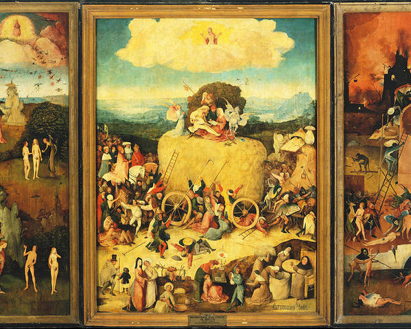 d480f2fe075 Hieronymus Bosch Poster featuring the painting The Haywain Triptych by Hieronymus  Bosch