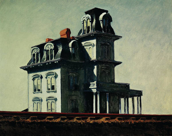 Eerie Poster featuring the painting The House By The Railroad by Edward Hopper