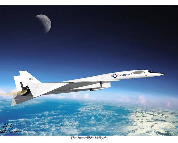 Aviation Poster featuring the painting The Incredible Xb-70 Valkyrie by Mark Karvon