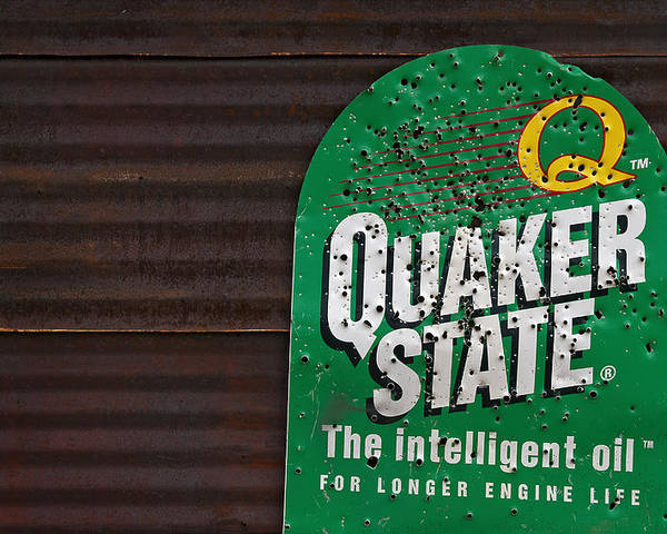 Quaker State Poster featuring the photograph The Intelligent Oil by Murray Bloom