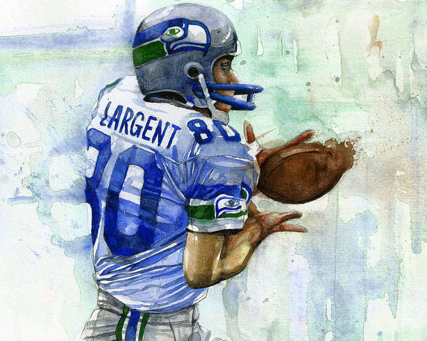 Steve Poster featuring the painting The Largent by Michael Pattison