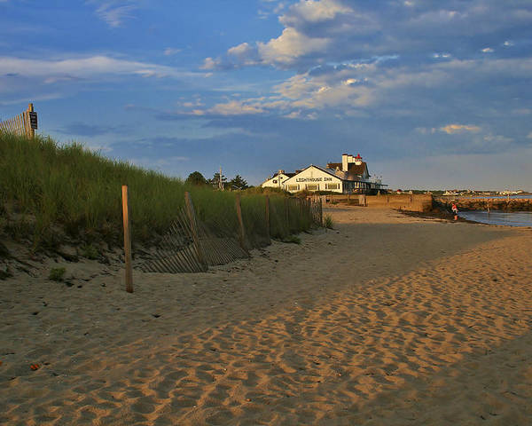 The Lighthouse Inn Poster featuring the photograph The Lighthouse Inn At Dusk by Marisa Geraghty Photography