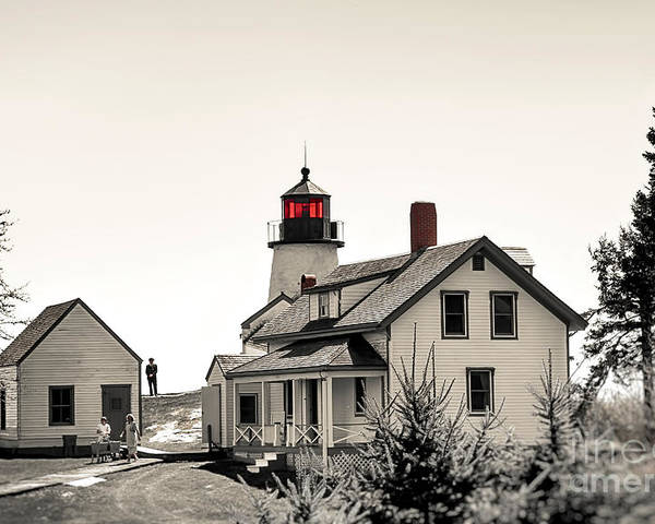 Lighthouse Poster featuring the photograph The Lightkeeper by Brenda Giasson