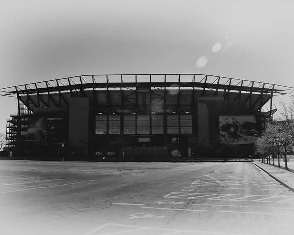 The Linc In Black And White Poster featuring the photograph The Linc In Black And White by Bill Cannon