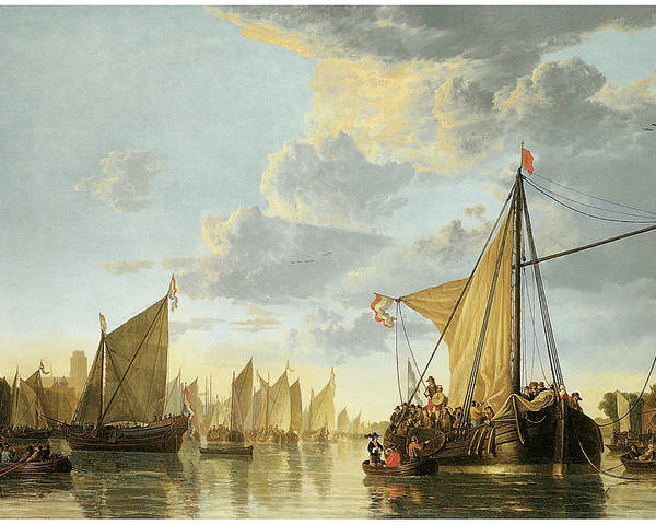 Aelbert Cuyp Poster featuring the painting The Maas At Dordrecht by Aelbert Cuyp