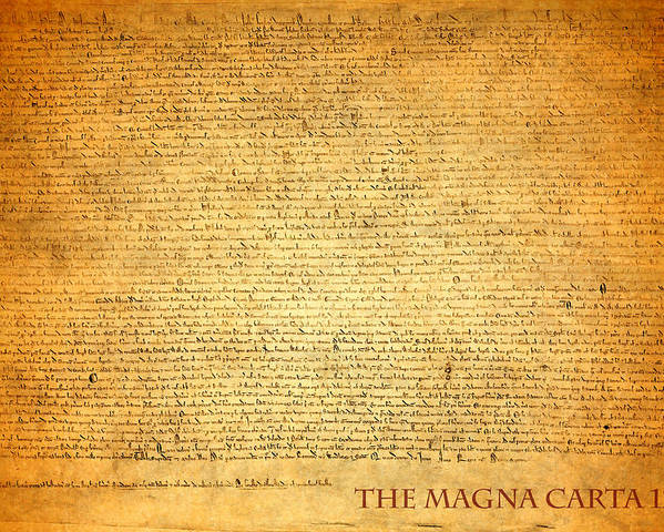 Magna Carta Poster featuring the mixed media The Magna Carta 1215 by Design Turnpike