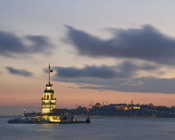 Turkey Poster featuring the photograph The Maiden's Tower by Ayhan Altun