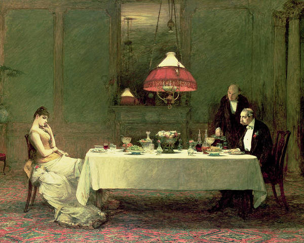 Dinner Poster featuring the painting The Marriage Of Convenience, 1883 by Sir William Quiller Orchardson