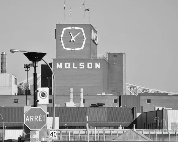 Montreal Poster featuring the photograph The Molson Clock Montreal by Reb Frost