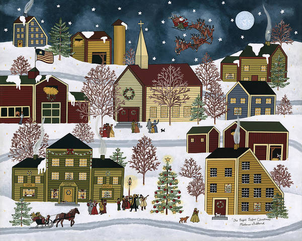 Christmas Poster featuring the painting The Night Before Christmas by Medana Gabbard