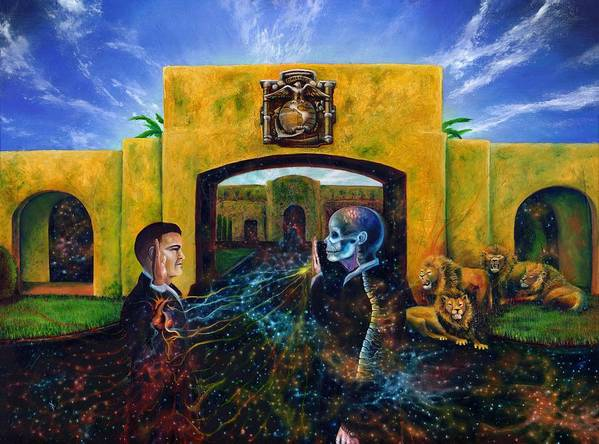 Metaphysical Poster featuring the painting The Oath by Kd Neeley