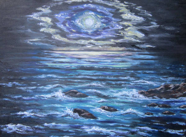 Ocean Poster featuring the painting The Ocean Sings The Sky Listens 2 by Cheryl Pettigrew
