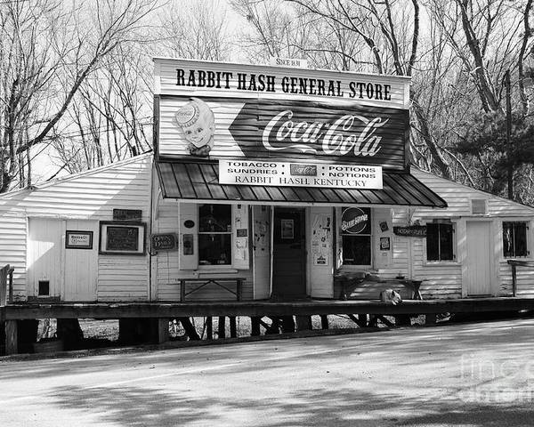 Nostalgia Poster featuring the photograph The Old General Store Bw by Mel Steinhauer