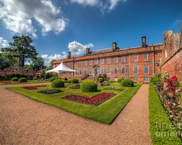 Stately Home Poster featuring the photograph The Old Hall by Adrian Evans