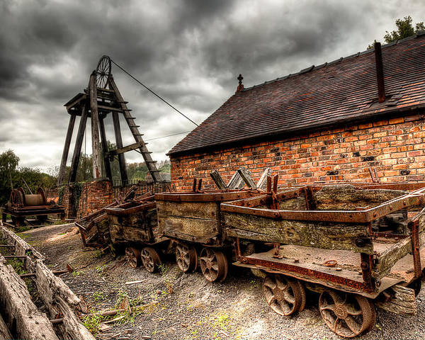 Architecture Poster featuring the photograph The Old Mine by Adrian Evans