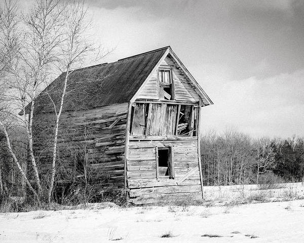 Rustic Landscape Poster featuring the photograph The Old Shack by Gary Heller