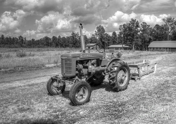 Tractor Poster featuring the photograph The Old Tractor by Kathy Baccari