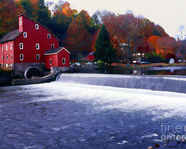 Water Poster featuring the photograph The Old Water Mill by Linda Parker