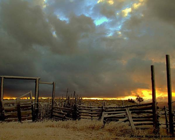 Western Corrals Poster featuring the photograph The Old West by Jeanne Bencich-Nations
