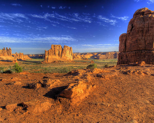 Arches National Park Poster featuring the photograph The Organ-2 by Fred Adsit
