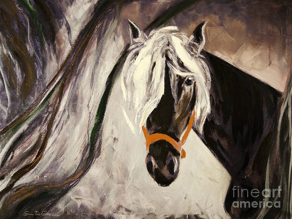 Horses Poster featuring the painting The Performer by Gina De Gorna