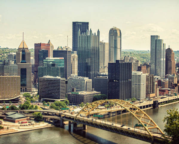 Pittsburgh Poster featuring the photograph The Pittsburgh Skyline by Lisa Russo