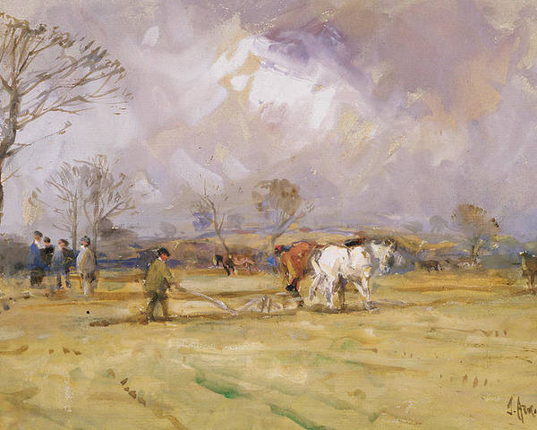 Plow Poster featuring the painting The Plough Team by John Atkinson