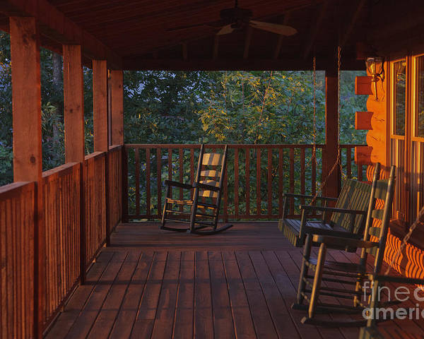 Porch Poster featuring the photograph The Porch Beckons by Kay Pickens