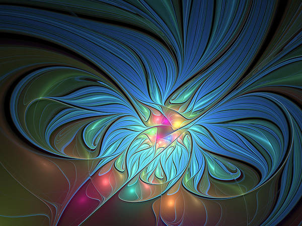 Abstract Poster featuring the digital art The Power Of Light by Gabiw Art