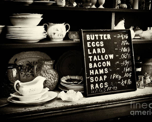 Infrared Poster featuring the photograph The Price List by Paul W Faust - Impressions of Light