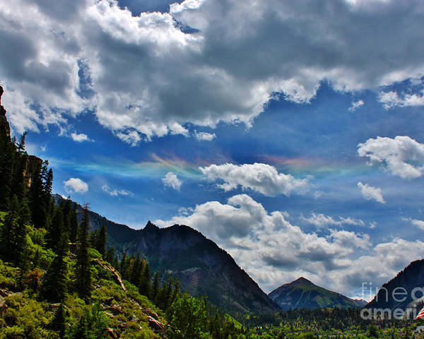 Weather Poster featuring the photograph The Rare Phenomena Rainbows by Janice Rae Pariza