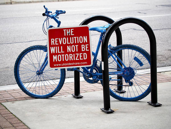 Bicycle Poster featuring the photograph The Revolution Will Not Be Motorized by Rona Black