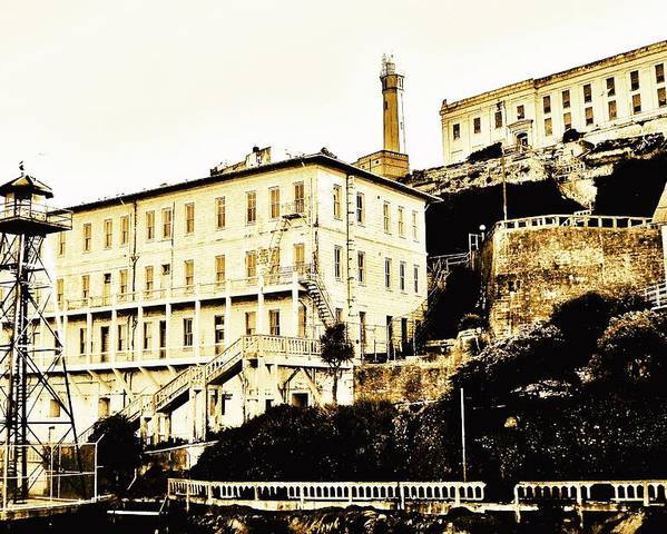 Alcatraz Poster featuring the photograph The Rock by Benjamin Yeager