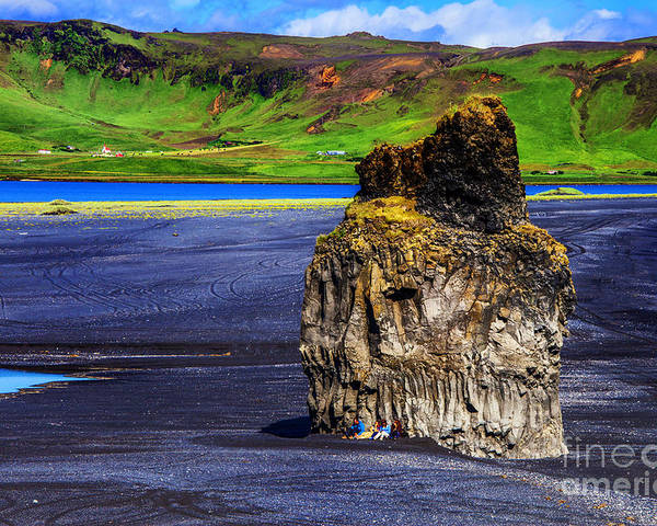 Iceland The Black Volcanic Beaches Poster featuring the photograph The Rock People by Rick Bragan