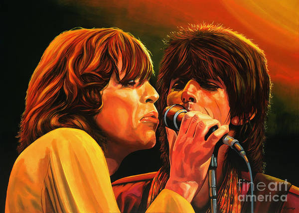 The Rolling Stones Poster featuring the painting The Rolling Stones by Paul Meijering