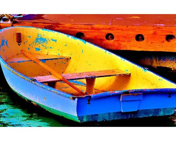 Boat Poster featuring the photograph The Row Boat by Sharon Lavoie